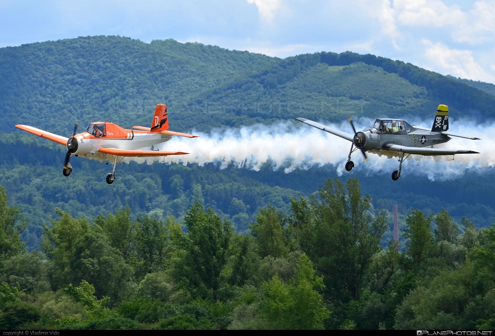 Zlin Z-37A Čmelák - OM-CJA operated by Aeroklub Dubnica nad Váhom #cmelak #z37 #z37a #zlin #zlin37 #zlin37cmelak