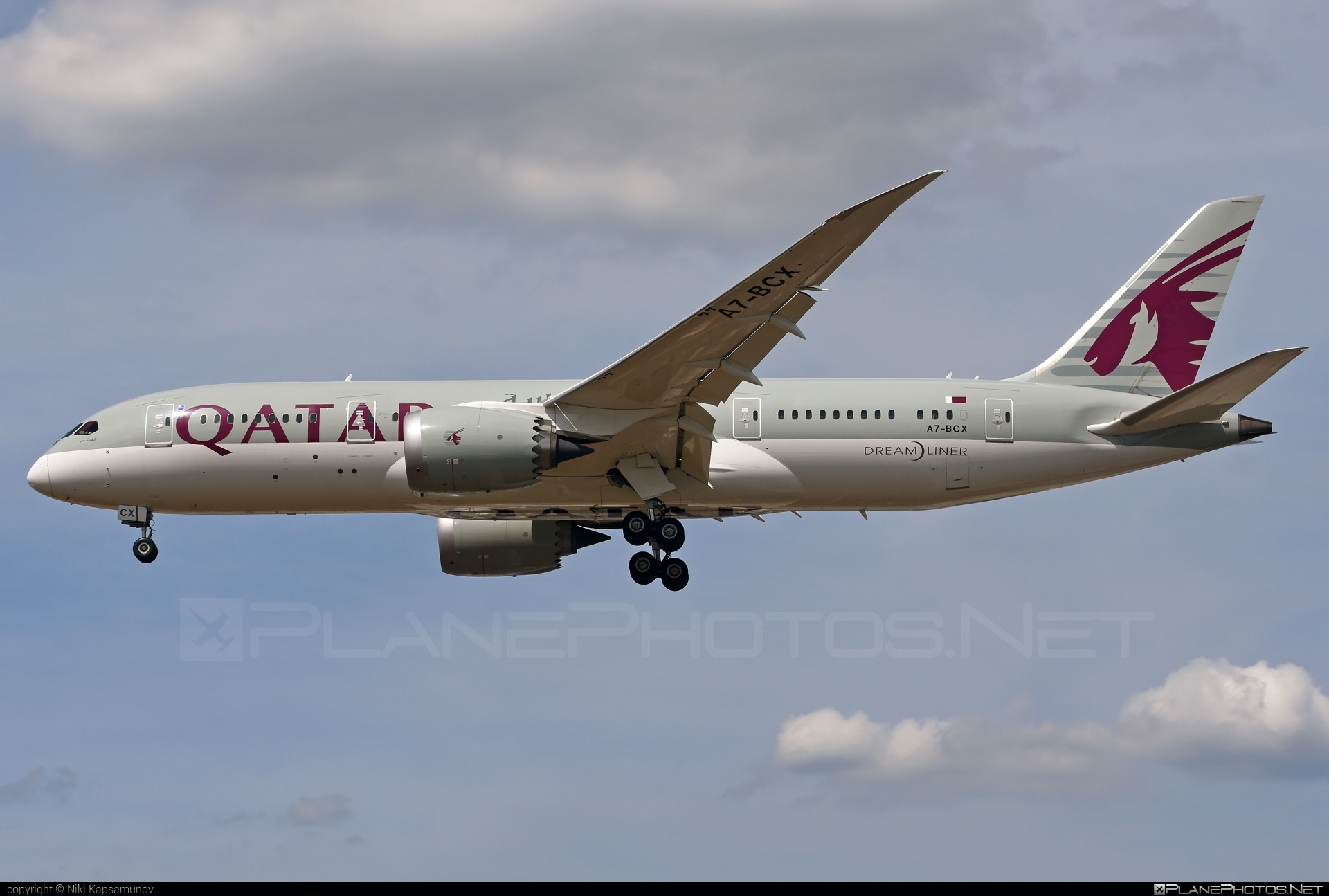 Boeing 787-8 Dreamliner - A7-BCX operated by Qatar Airways #b787 #boeing #boeing787 #dreamliner #qatarairways