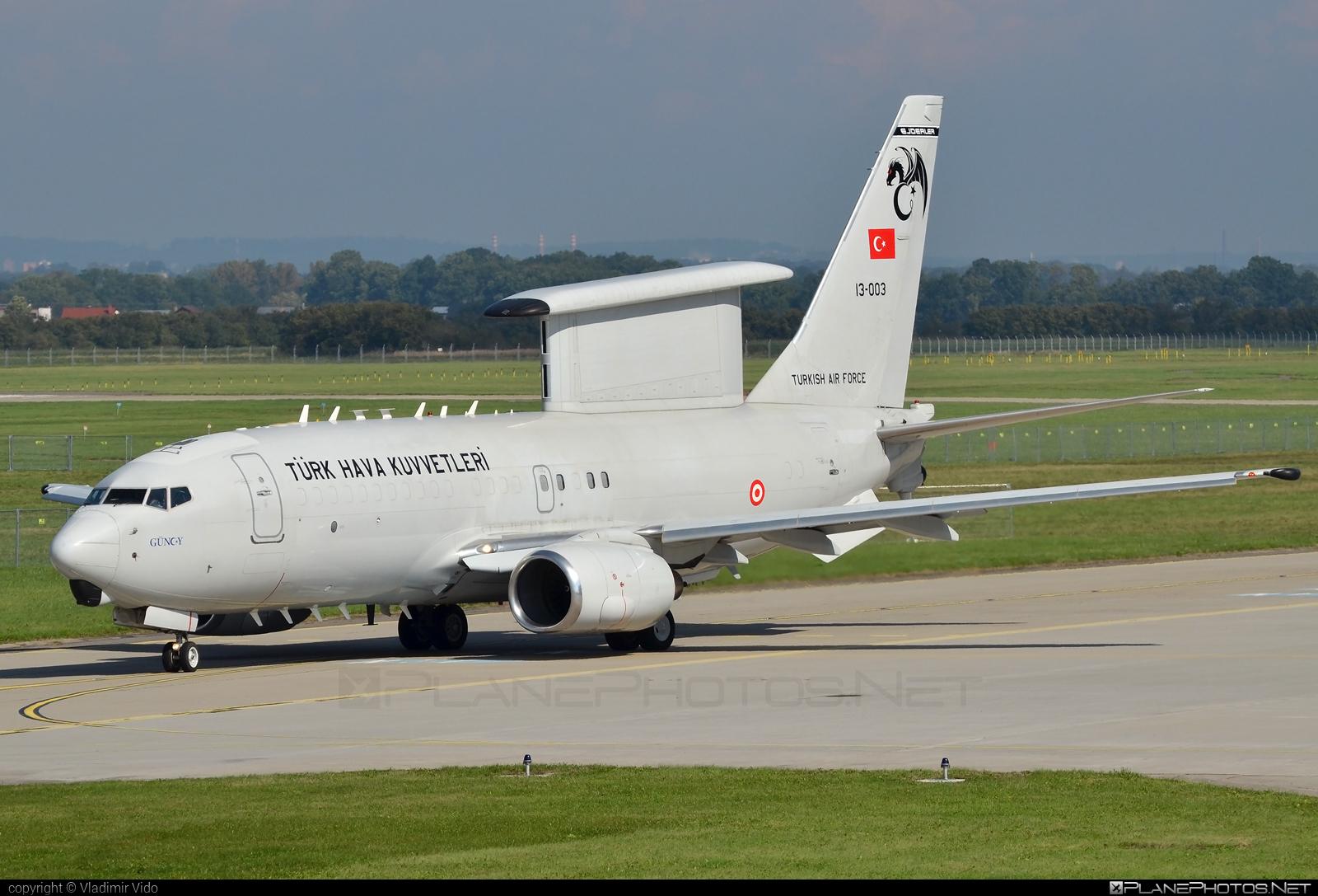 Boeing E-7T Peace Eagle - 13-003 operated by Türk Hava Kuvvetleri (Turkish Air Force) #b737eawc #boeing #e7t #e7wedgetail #peaceeagle #turkishairforce