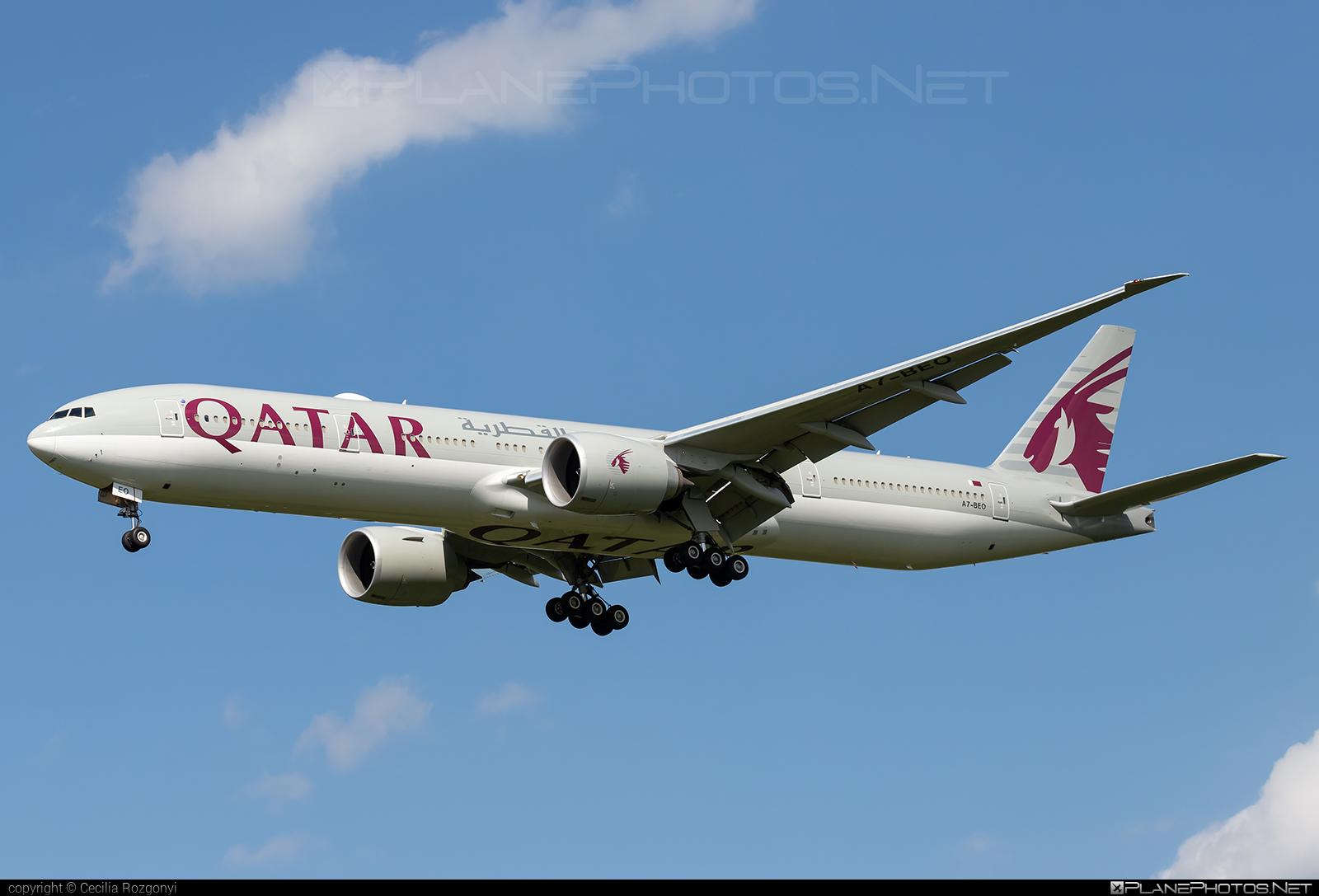 Boeing 777-300ER - A7-BEO operated by Qatar Airways #b777 #b777er #boeing #boeing777 #qatarairways #tripleseven