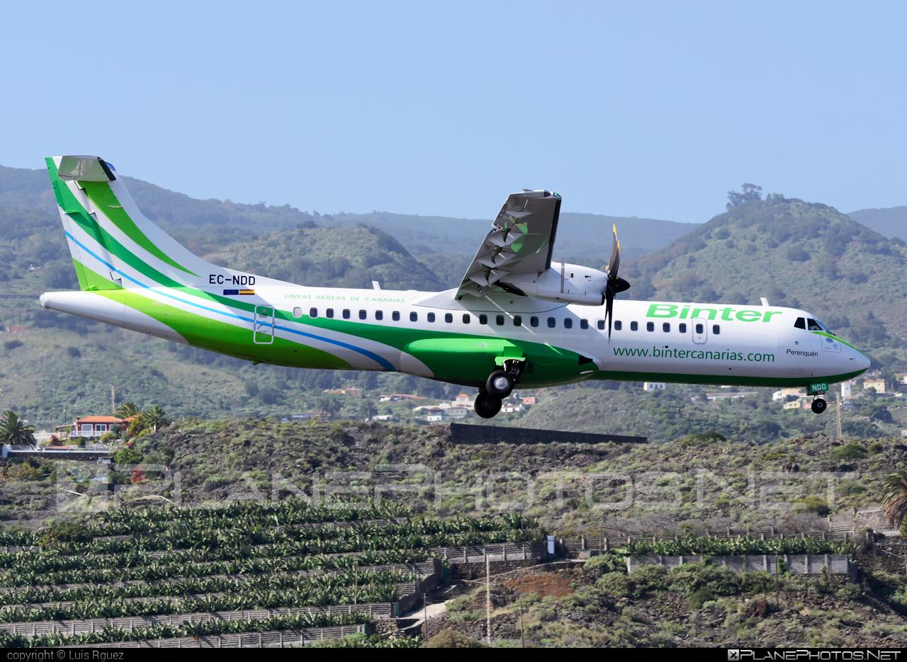 ATR 72-600 - EC-NDD operated by Binter Canarias #atr