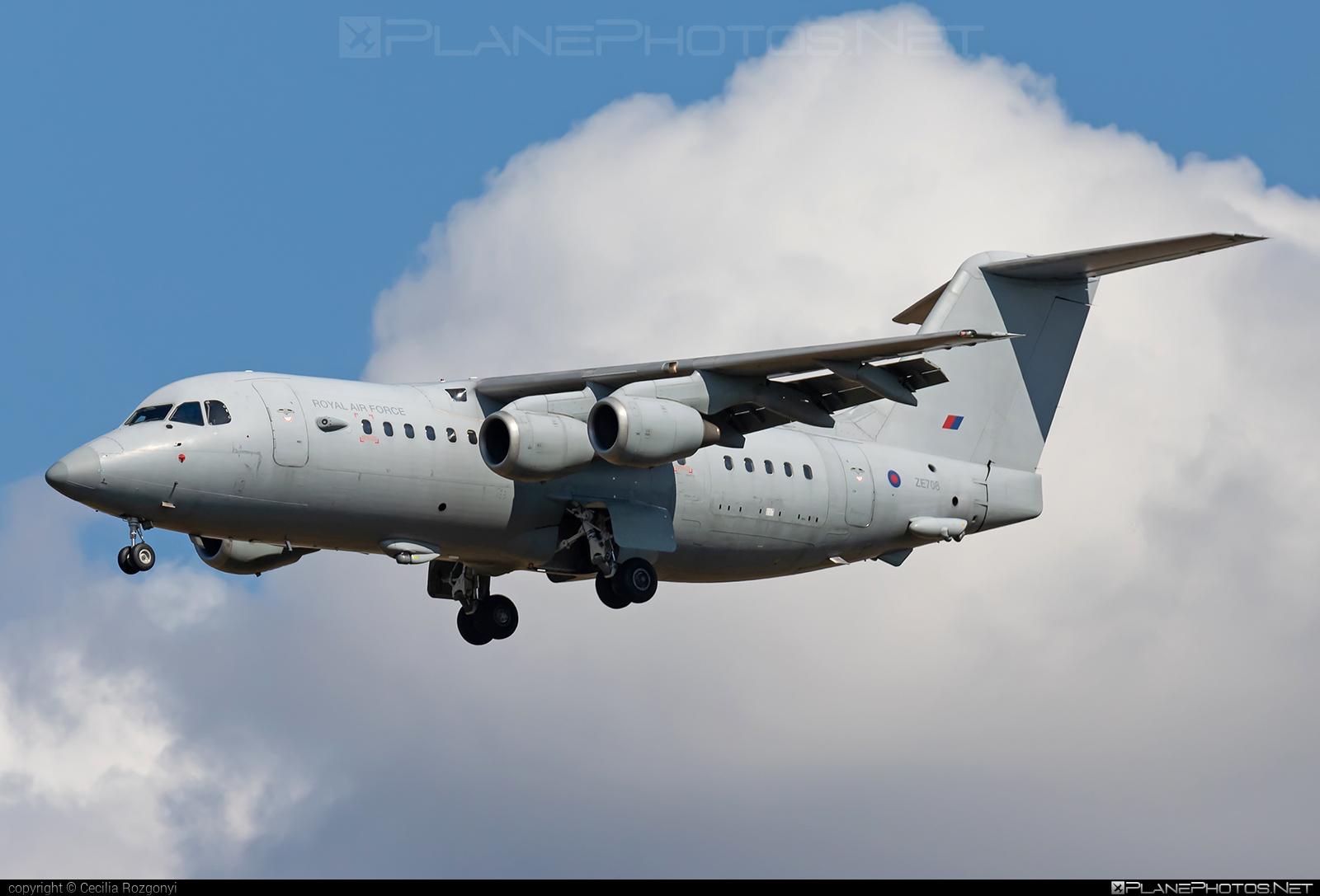 British Aerospace BAe 146-200 - ZE708 operated by Royal Air Force (RAF) #bae146 #bae146200 #britishaerospace #raf #royalairforce