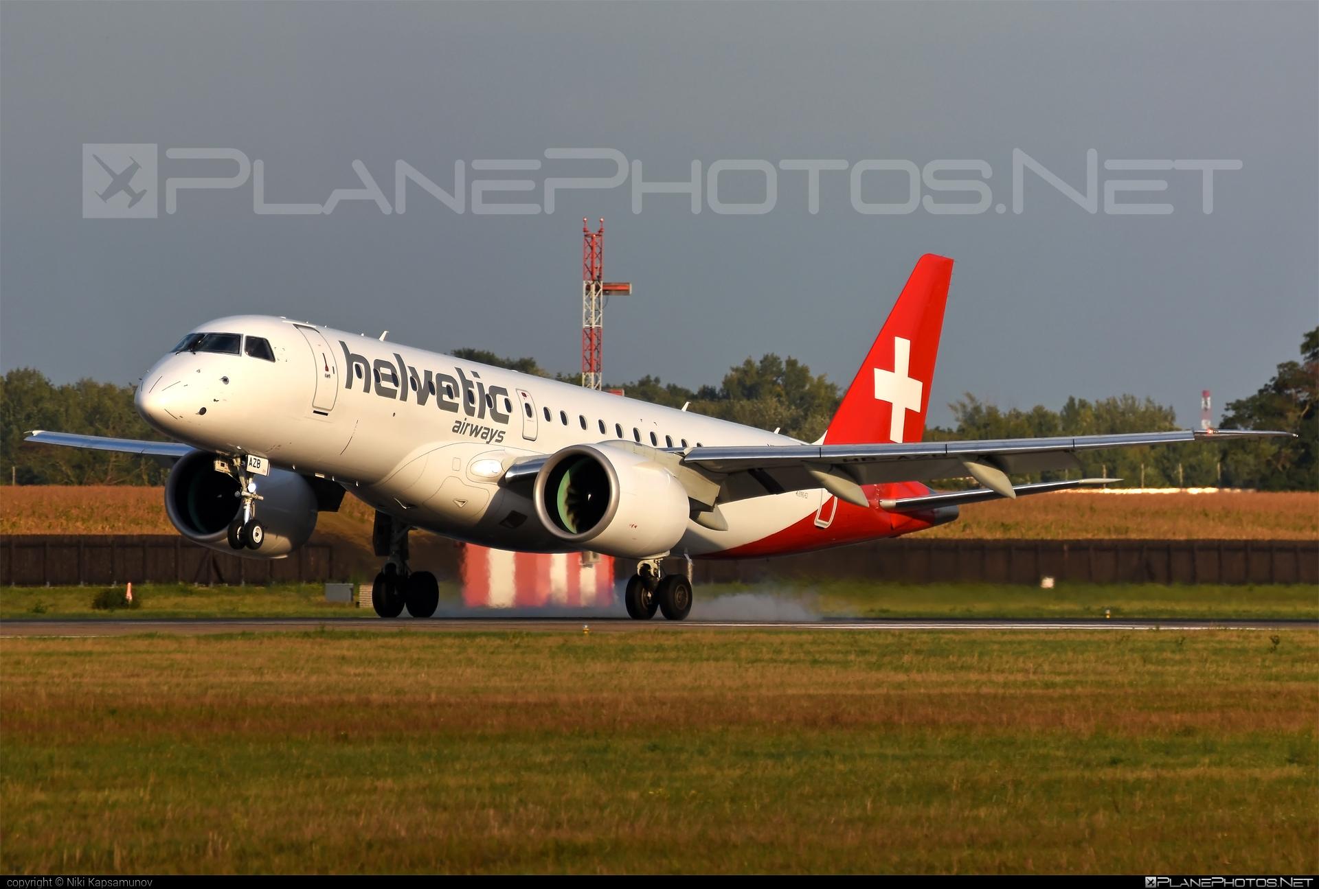 Embraer E190-E2 (ERJ-190-300STD) - HB-AZB operated by Helvetic Airways #e190 #e190e2 #embraer #embraer190 #embraer190300 #embraer190300std #embraer190e2 #erj190300 #erj190300std