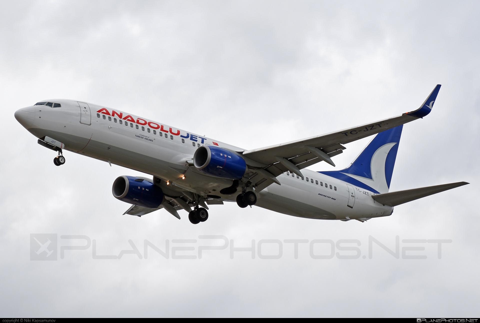 Boeing 737-800 - TC-JZT operated by AnadoluJet #b737 #b737nextgen #b737ng #boeing #boeing737