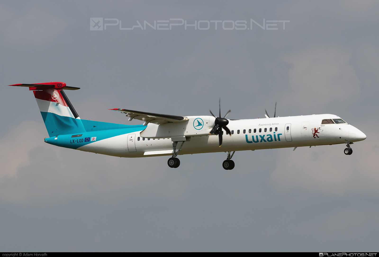 Bombardier DHC-8-Q402 Dash 8 - LX-LQD operated by Luxair #bombardier #dash8 #dhc8 #dhc8q402