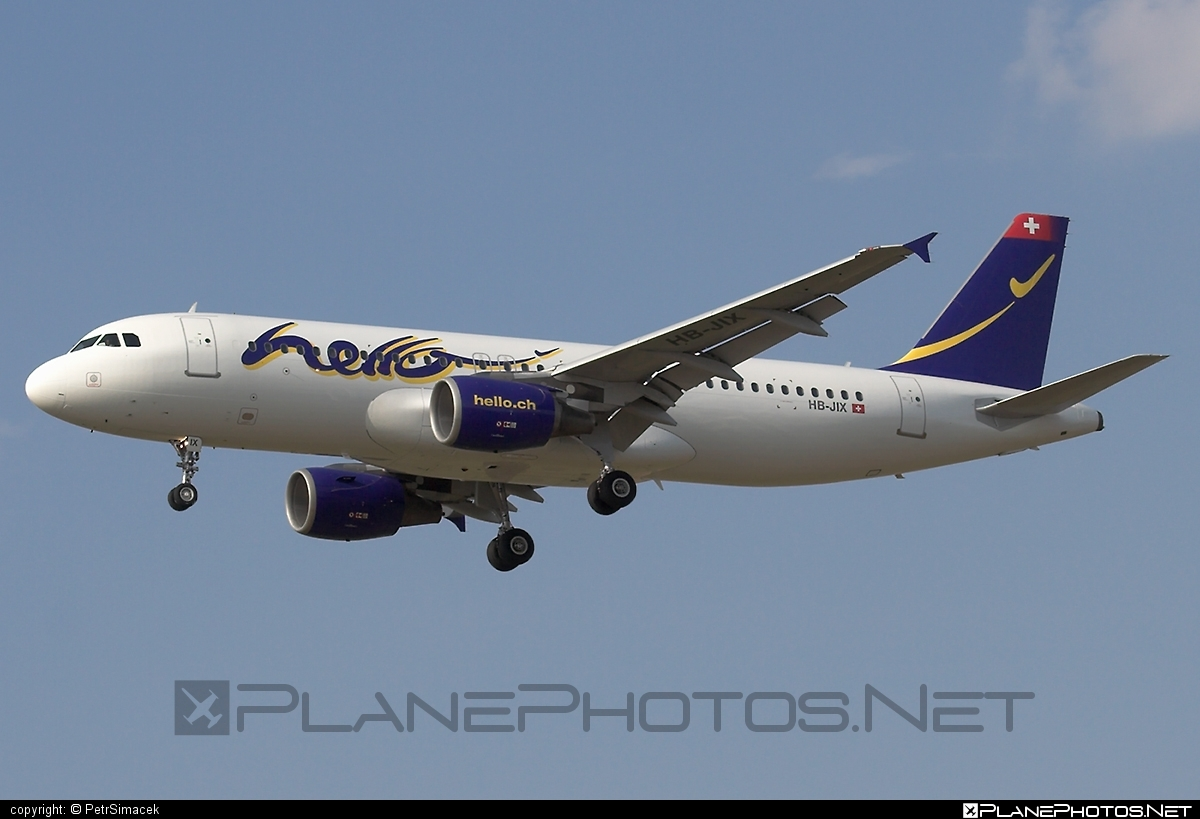 Airbus A320-214 - HB-JIX operated by Hello #a320 #a320family #airbus #airbus320