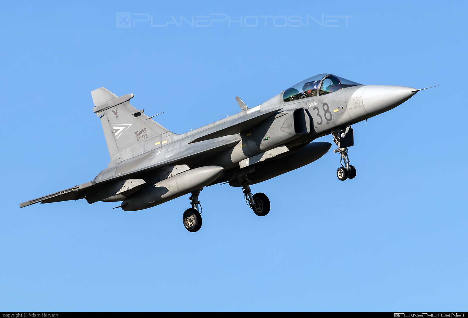 Saab JAS 39C Gripen - 38 operated by Magyar Légierő (Hungarian Air Force) #gripen #hungarianairforce #jas39 #jas39c #jas39gripen #magyarlegiero #saab