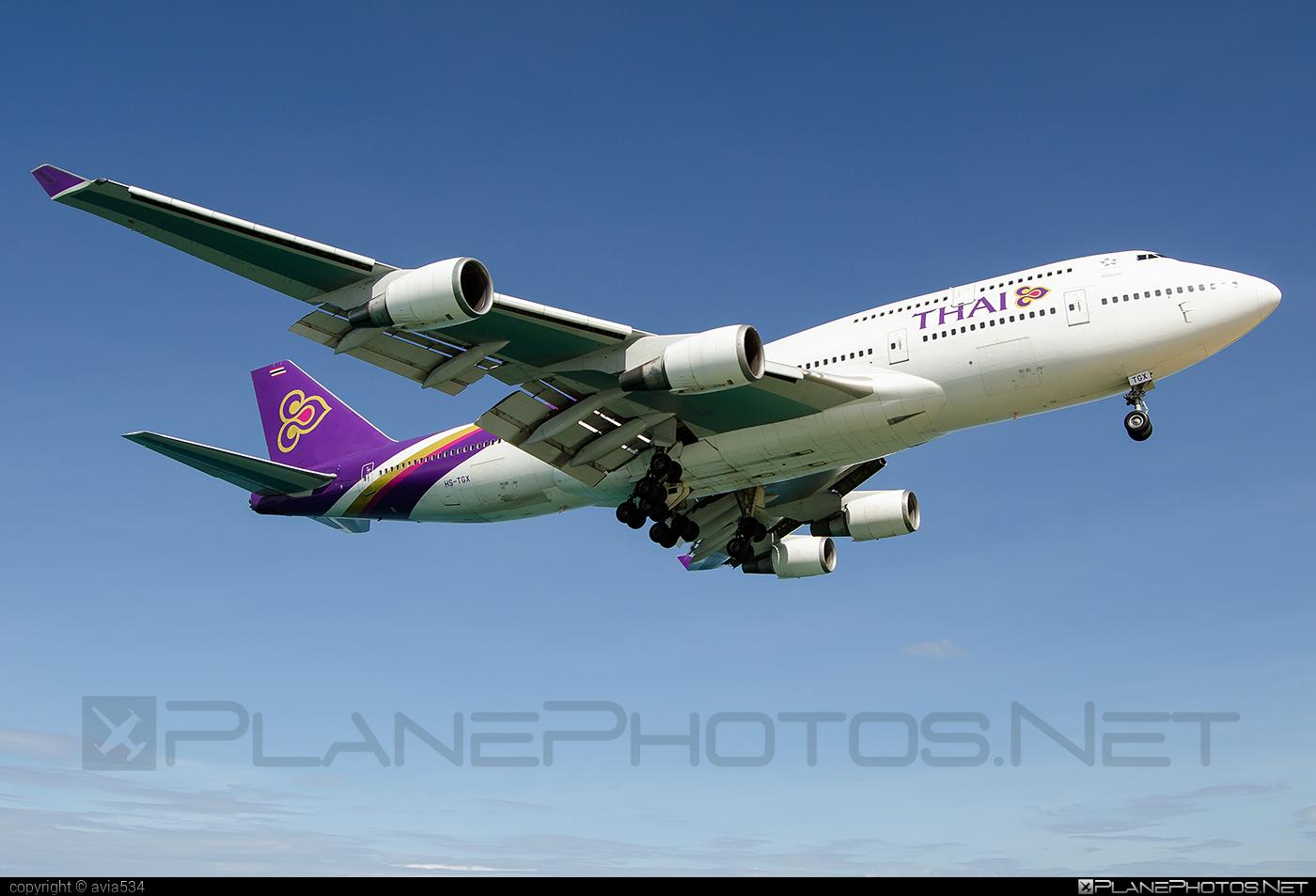 Boeing 747-400 - HS-TGX operated by Thai Airways #b747 #boeing #boeing747 #jumbo #thaiairways