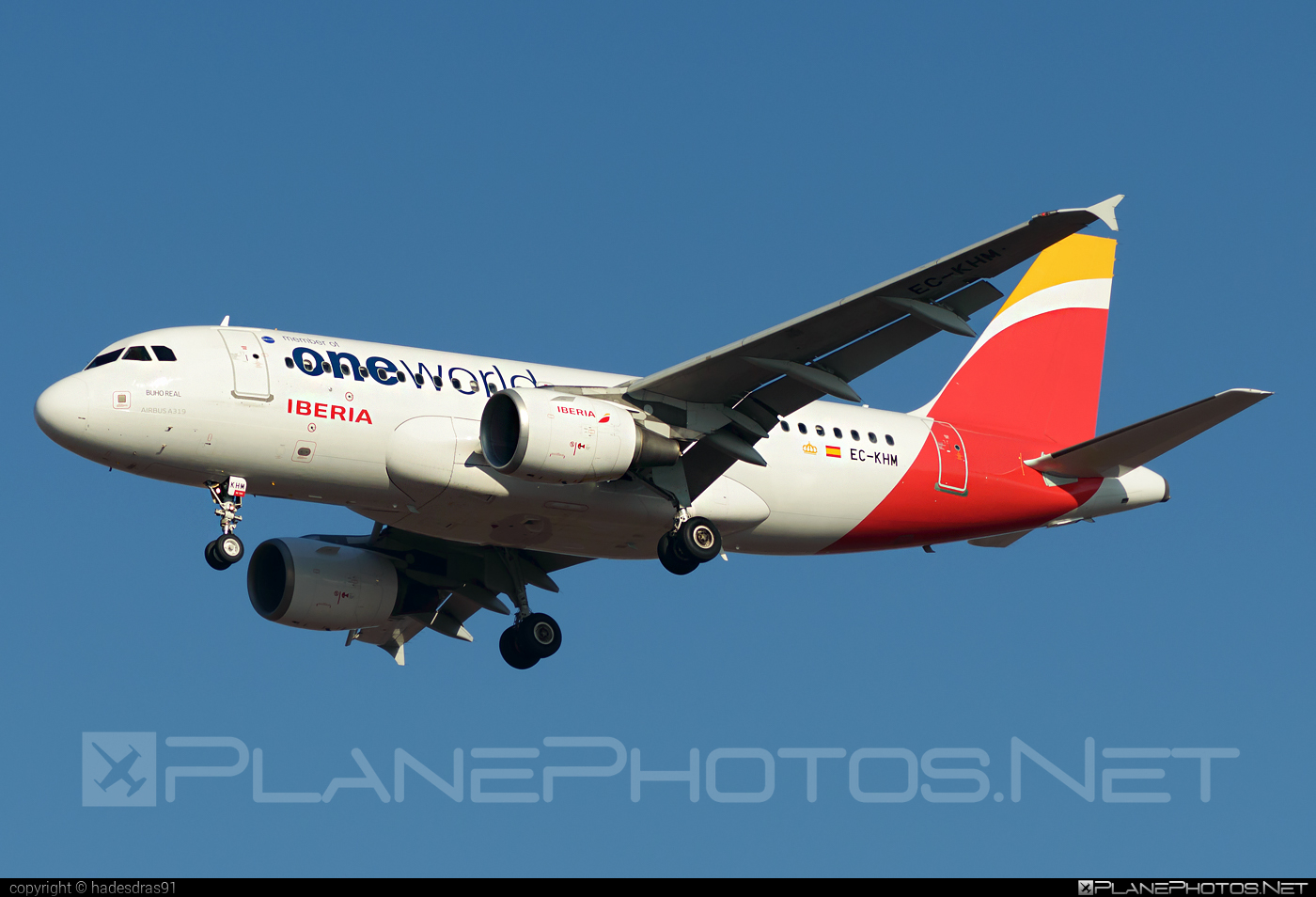 Airbus A319-111 - EC-KHM operated by Iberia #a319 #a320family #airbus #airbus319 #iberia #oneworld