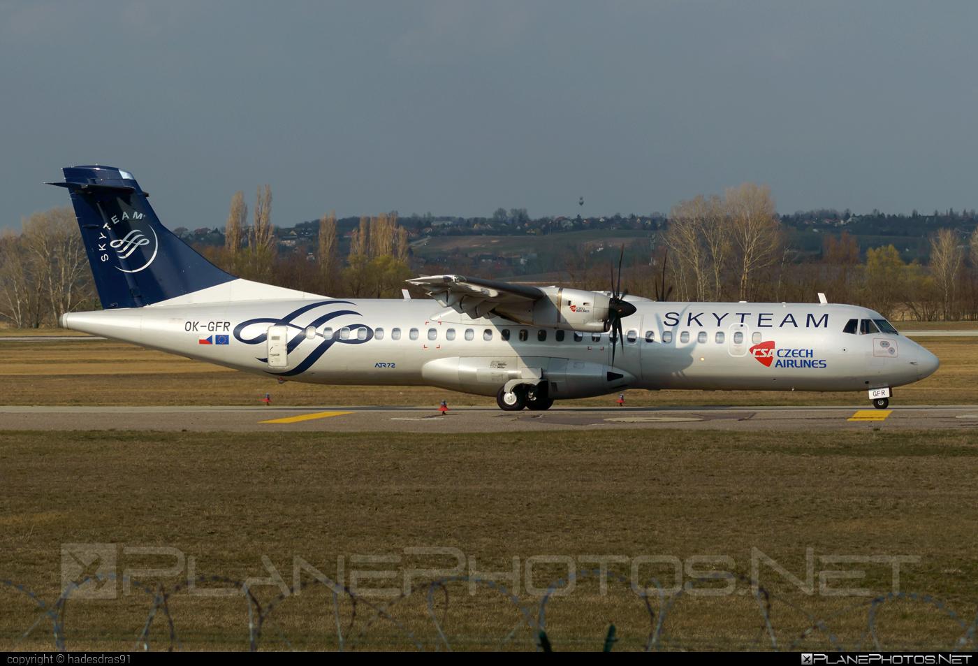 ATR 72-212A - OK-GFR operated by CSA Czech Airlines #atr #csa #czechairlines #skyteam