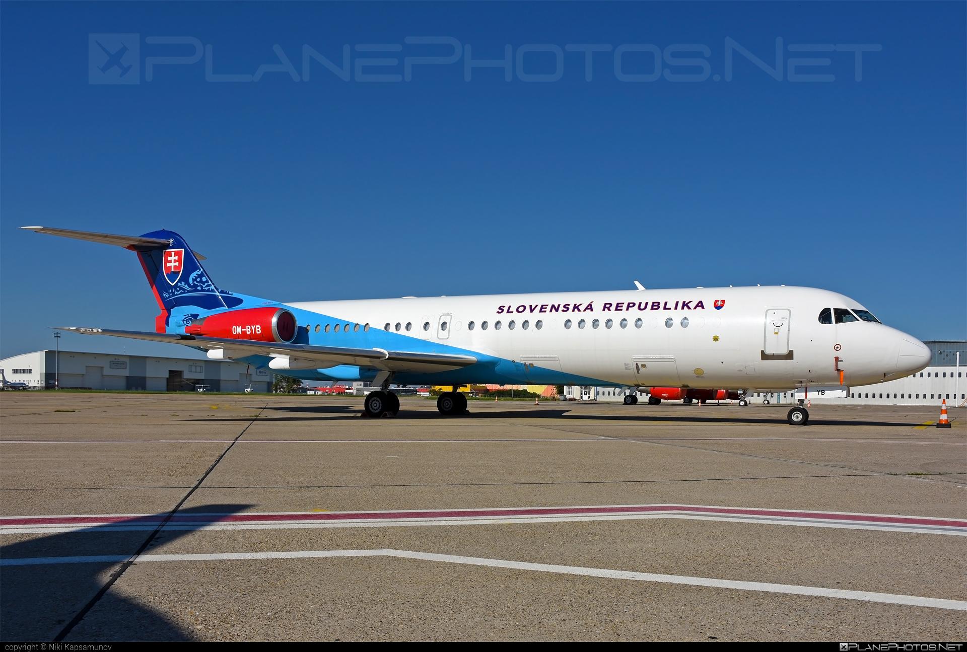 Fokker 100 - OM-BYB operated by Letecký útvar MV SR (Slovak Government Flying Service) #fokker