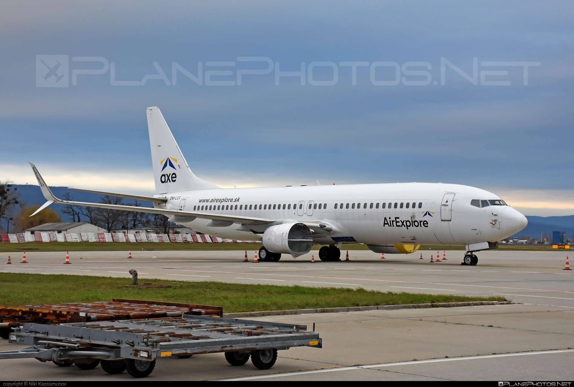 Boeing 737-800 - OM-LEX operated by AirExplore #b737 #b737nextgen #b737ng #boeing #boeing737