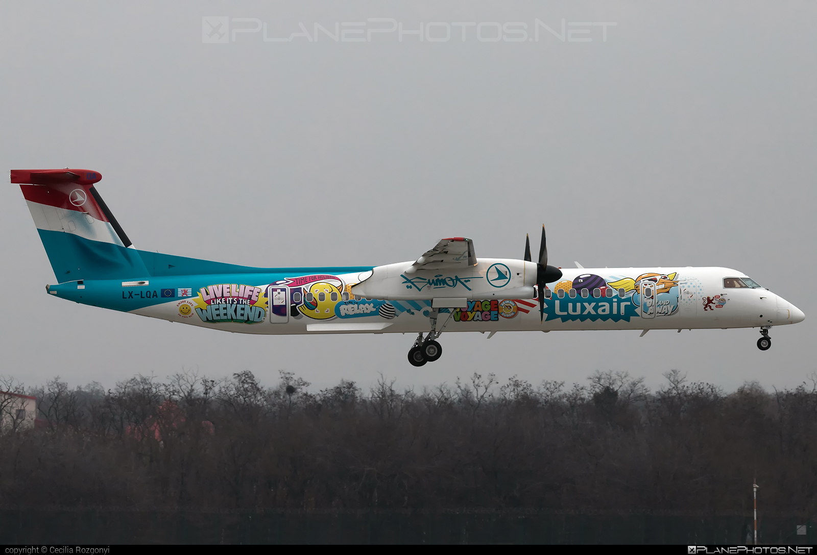 Bombardier DHC-8-Q402 Dash 8 - LX-LQA operated by Luxair #bombardier #dash8 #dhc8 #dhc8q402