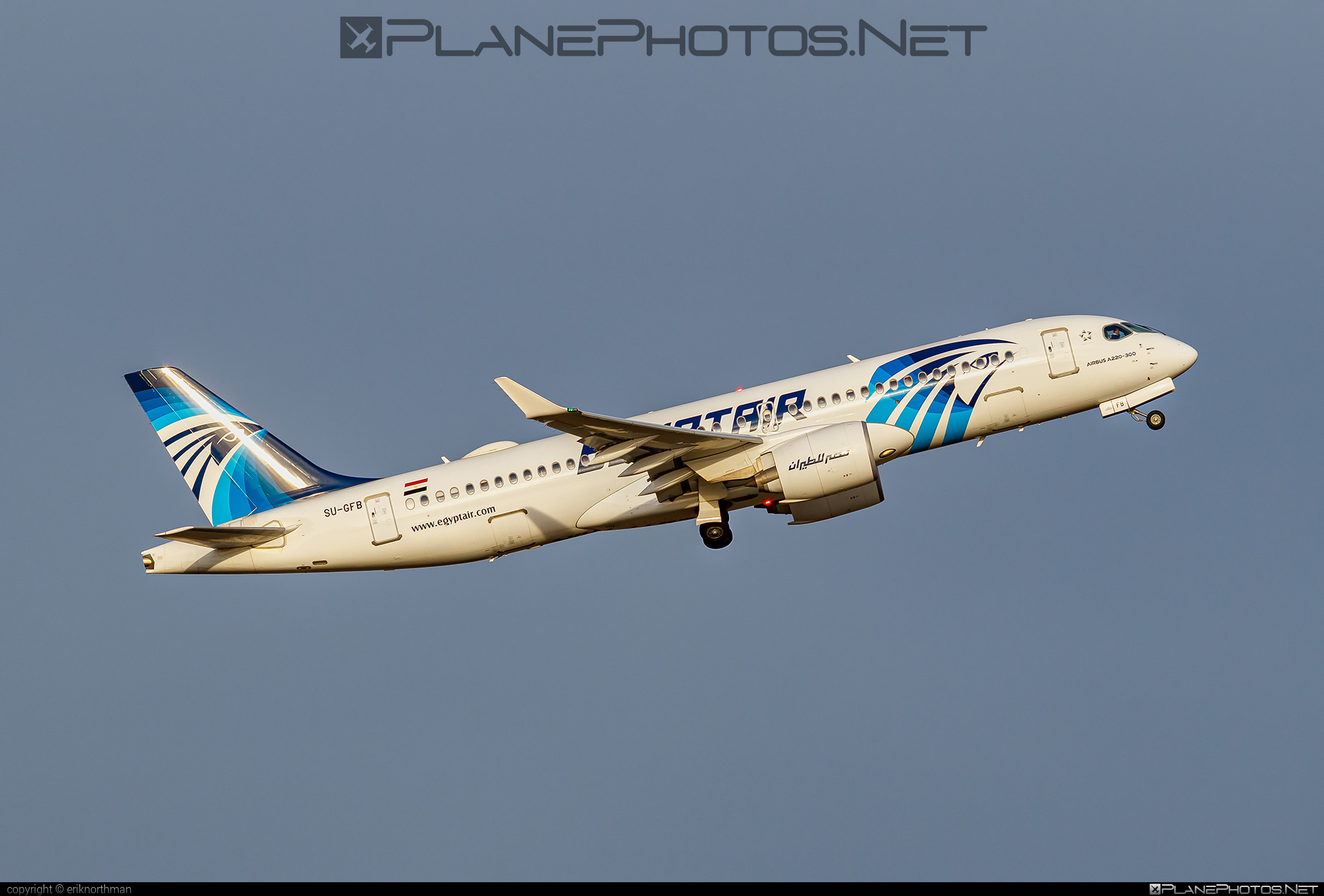 Airbus A220-300 - SU-GFB operated by EgyptAir #a220300 #a220family #airbus #cs300 #cseries #cseries300