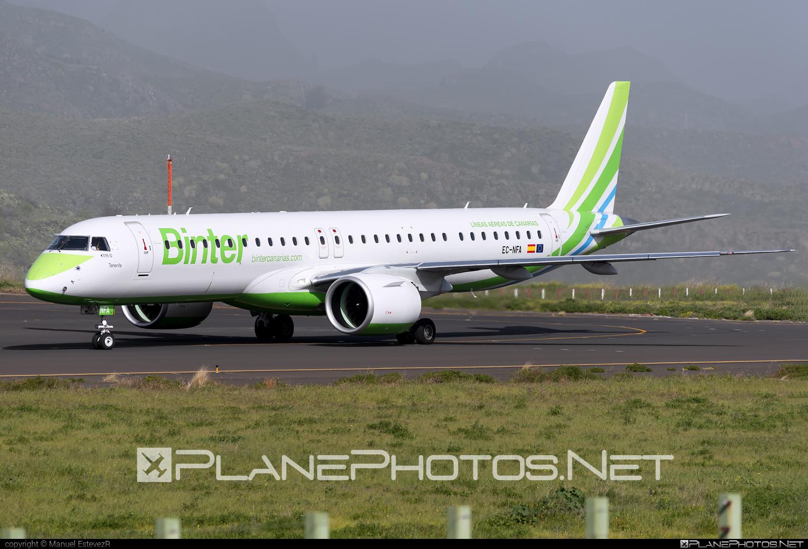 Embraer E195-E2 (ERJ-190-400STD) - EC-NFA operated by Binter Canarias #e195 #e195e2 #embraer #embraer190400 #embraer190400std #embraer195 #embraer195e2 #erj190400 #erj190400std