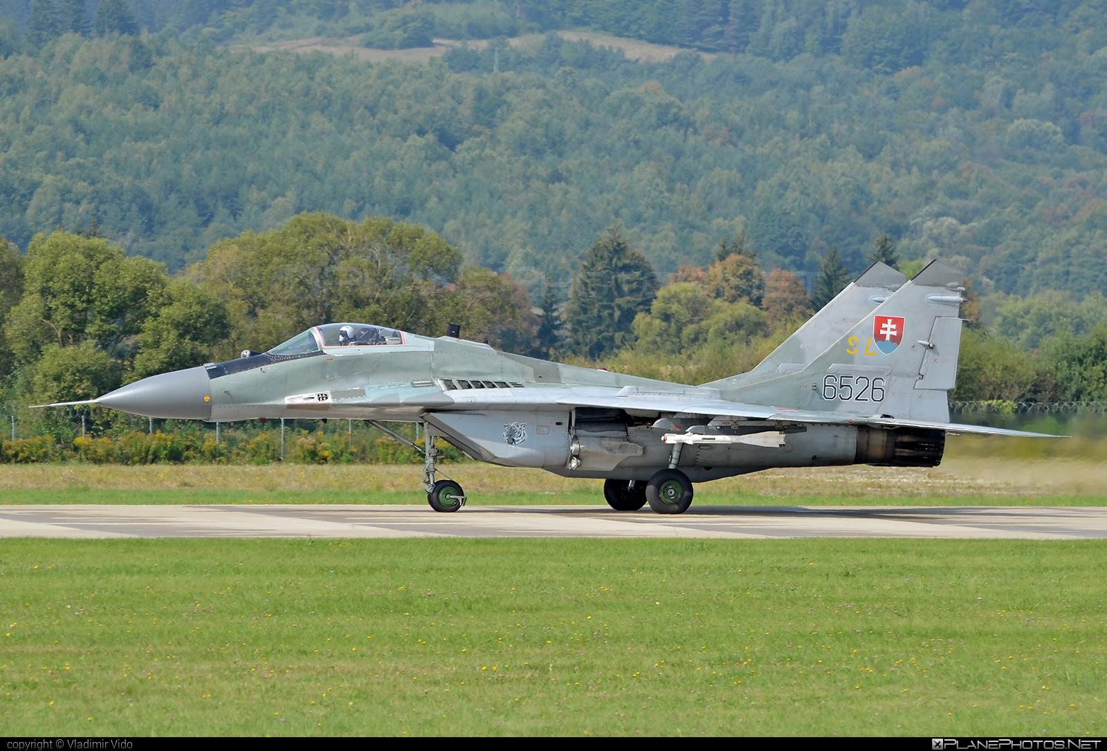 Mikoyan-Gurevich MiG-29AS - 6526 operated by Vzdušné sily OS SR (Slovak Air Force) #mig #mig29 #mig29as #mikoyangurevich #slovakairforce #vzdusnesilyossr