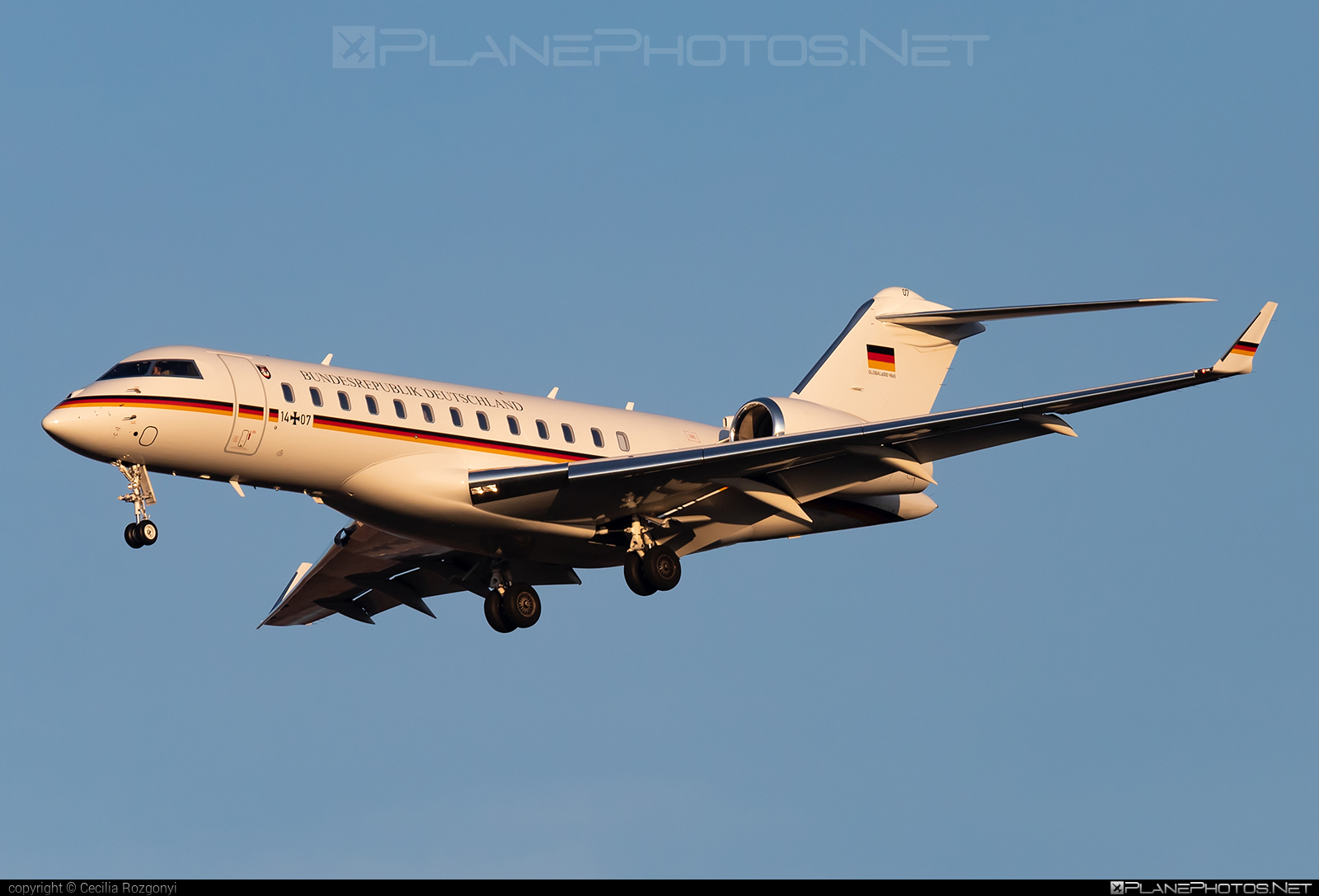 Bombardier Global 6000 (BD-700-1A10) - 14+07 operated by Luftwaffe (German Air Force) #GermanAirForce #bd7001a10 #bombardier #bombardierglobal6000 #global6000 #luftwaffe