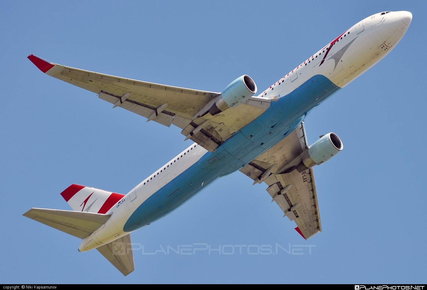 OE LAX Boeing 767 300ER operated by Austrian Airlines