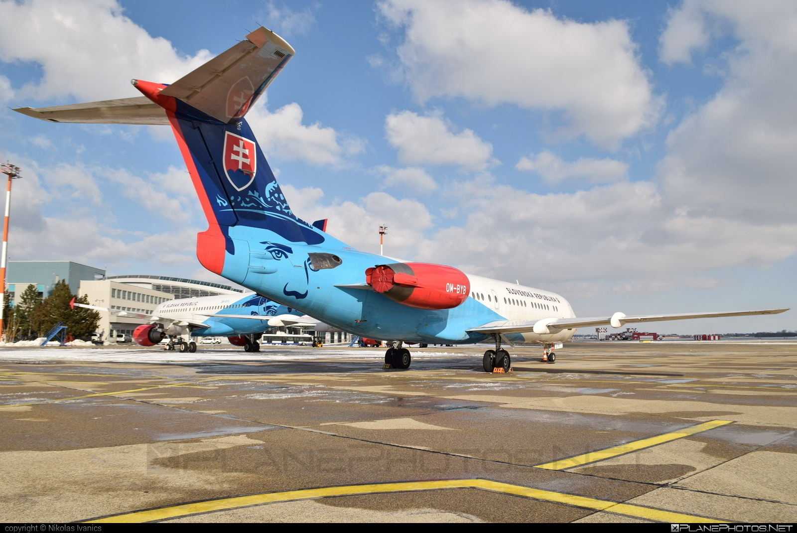 Fokker 100 - OM-BYB operated by Letecký útvar MV SR (Slovak Government Flying Service) #SlovakGovernmentFlyingService #fokker #fokker100 #leteckyutvarMVSR