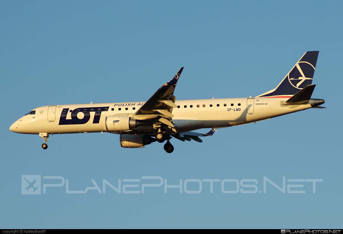 Embraer E190STD (ERJ-190-100STD) - SP-LMD operated by LOT Polish Airlines #e190 #e190100 #e190100std #e190std #embraer #embraer190 #embraer190100std #embraer190std #lot #lotpolishairlines