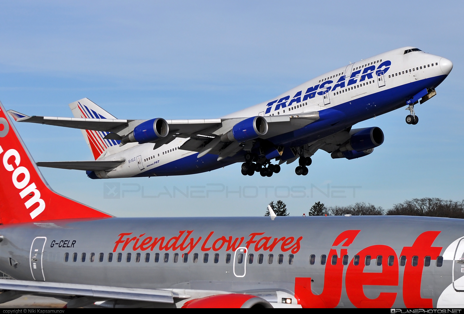Boeing 747-400 - EI-XLC operated by Transaero Airlines #b747 #boeing #boeing747 #jumbo #transaero #transaeroairlines