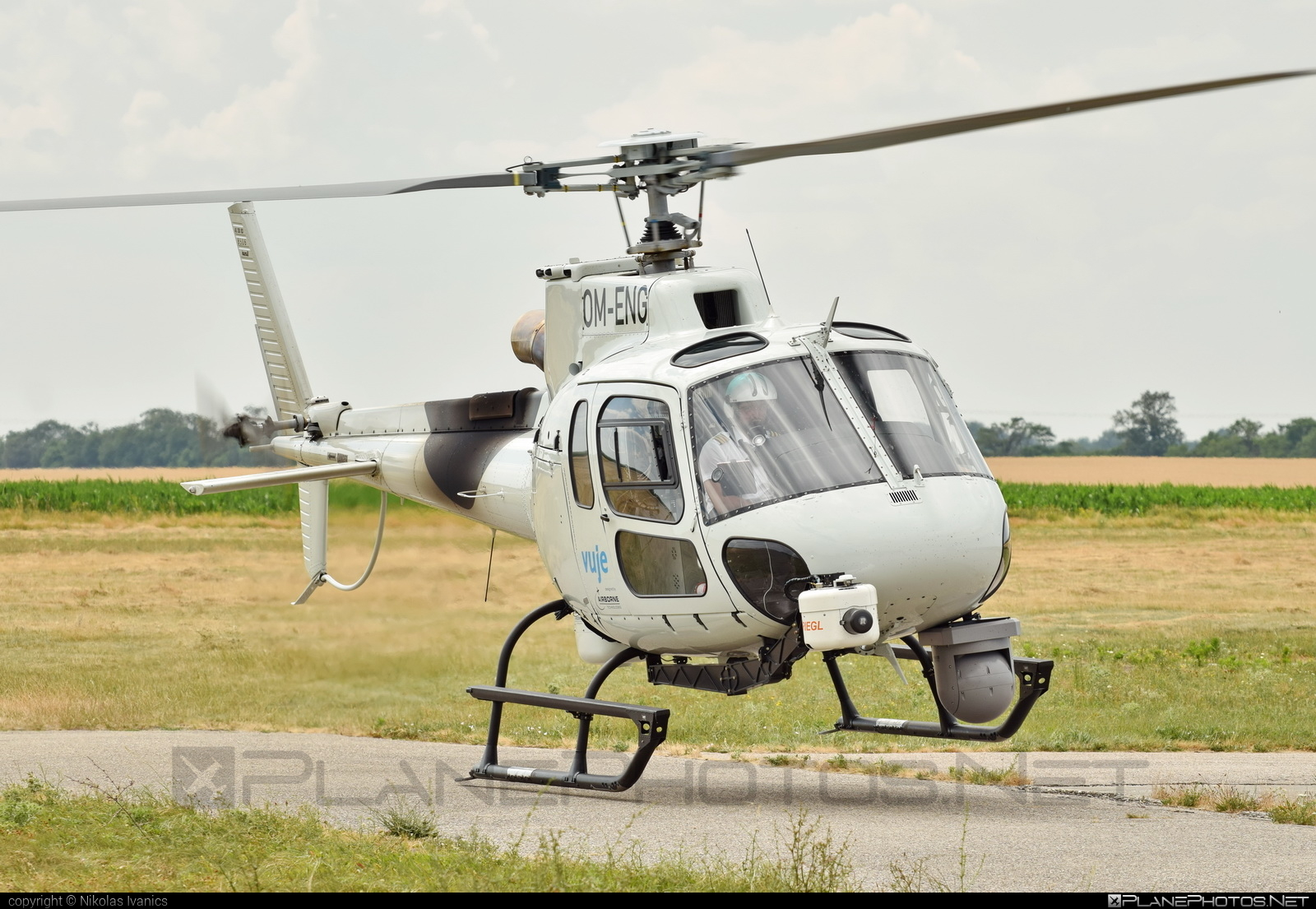Aerospatiale AS350 Ecureuil - OM-ENG operated by Private operator #aerospatiale