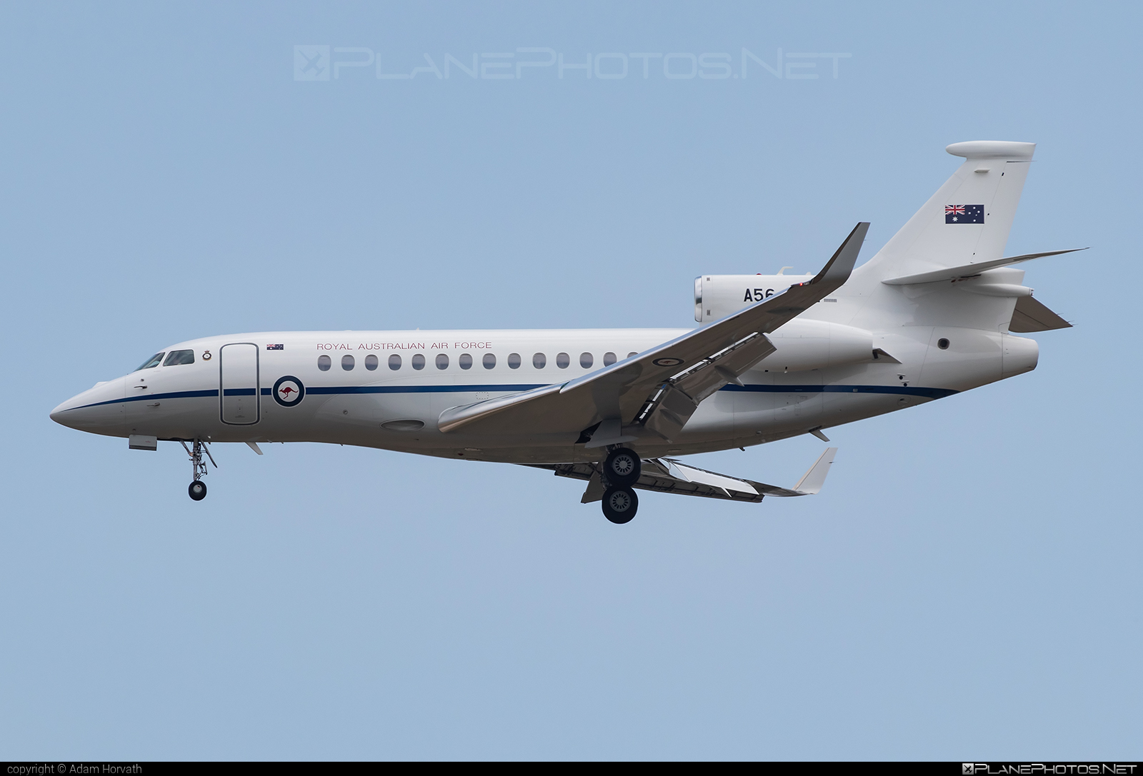 Dassault Falcon 7X - A56-002 operated by Royal Australian Air Force (RAAF) #dassault #dassaultfalcon #dassaultfalcon7x #falcon7x #raaf #royalaustralianairforce