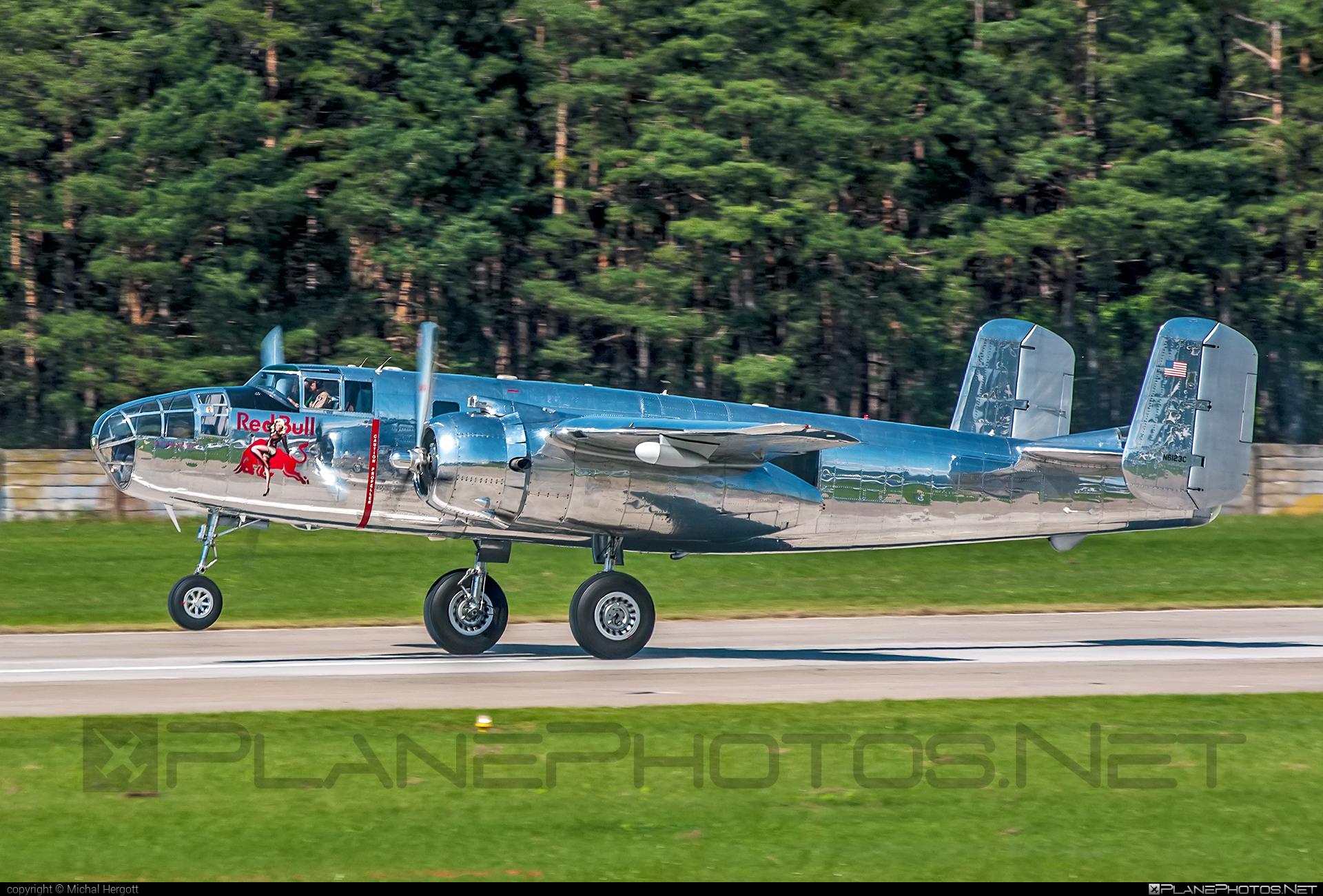 North American B-25J Mitchell - N6123C operated by The Flying Bulls #b25 #b25j #b25mitchell #northamerican #siaf2021 #theflyingbulls