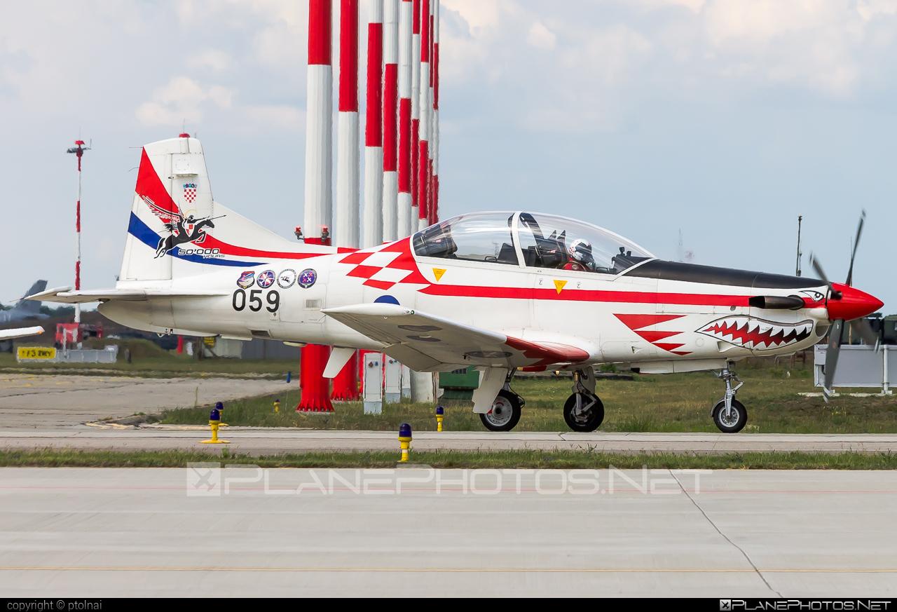 Pilatus PC-9M - 059 operated by Hrvatsko ratno zrakoplovstvo i protuzračna obrana (Croatian Air Force) #CroatianAirForce #HrvatskoRatnoZrakoplovstvoIProtuzracnaObrana #kecskemetairshow2021 #pilatus