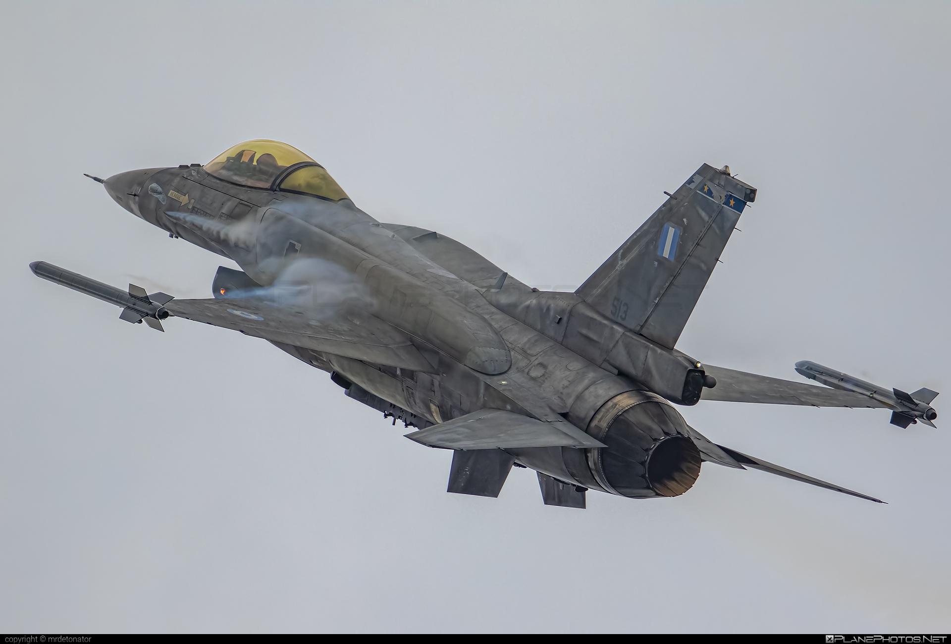 Lockheed Martin F-16CJ Fighting Falcon - 513 operated by Polemikí Aeroporía (Hellenic Air Force) #LockheedMartin #f16 #f16cj #fightingfalcon #hellenicairforce #polemikiaeroporia