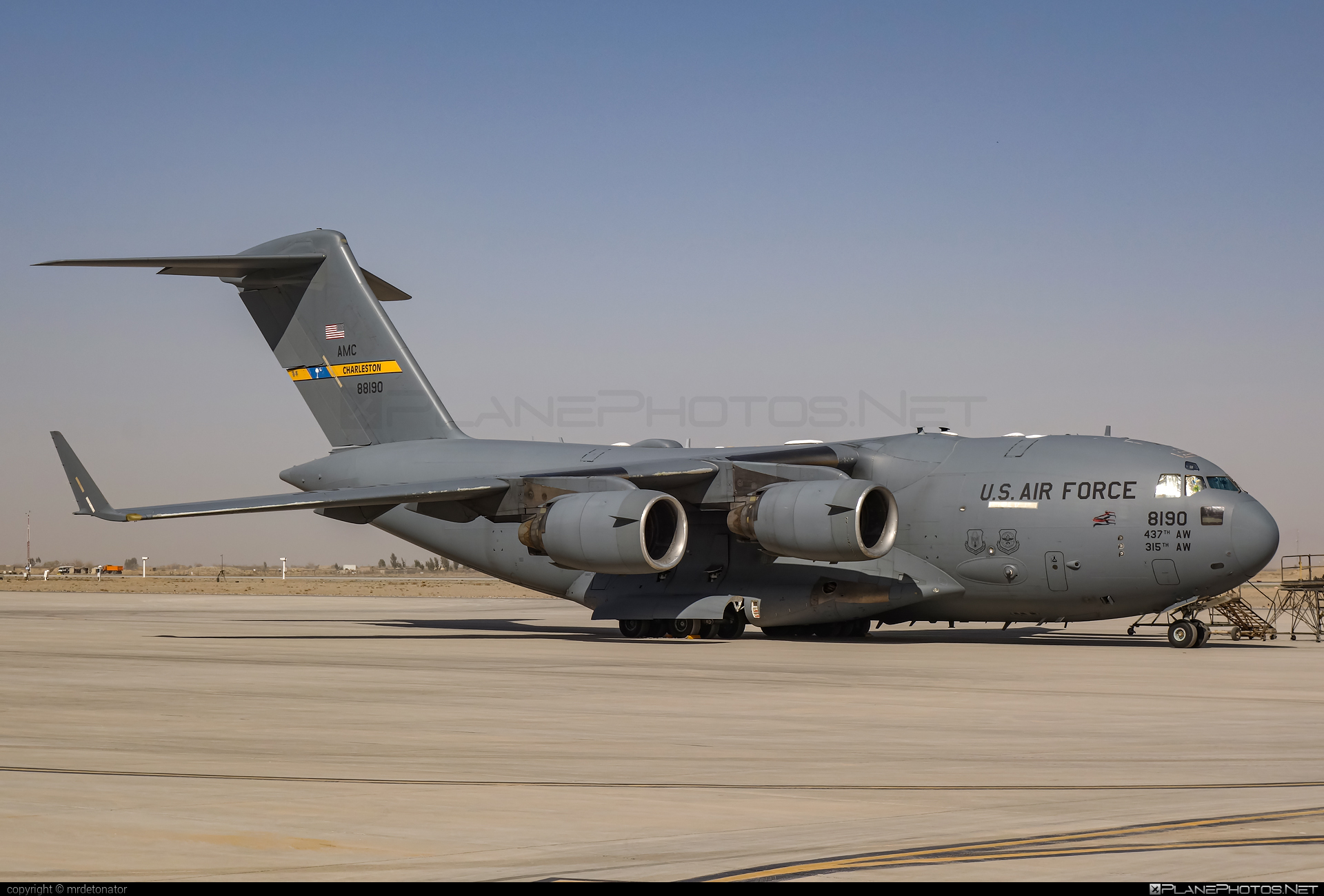 Boeing C-17A Globemaster III - 08-8190 operated by US Air Force (USAF) #boeing #c17 #c17globemaster #globemaster #globemasteriii #usaf #usairforce