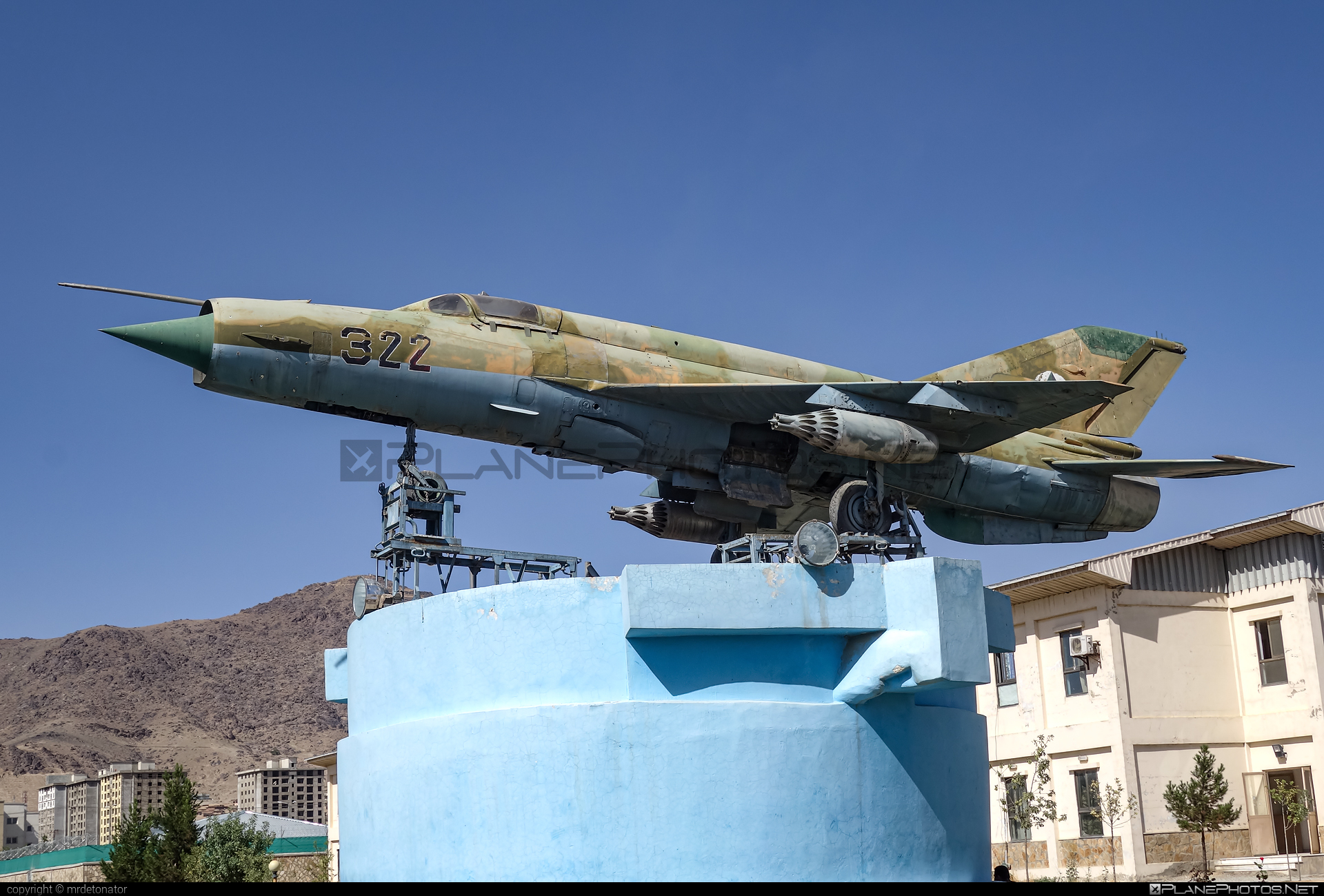 Mikoyan-Gurevich MiG-21MF - 322 operated by Afghan Air Force #afghanairforce #mig #mig21 #mig21mf #mikoyangurevich