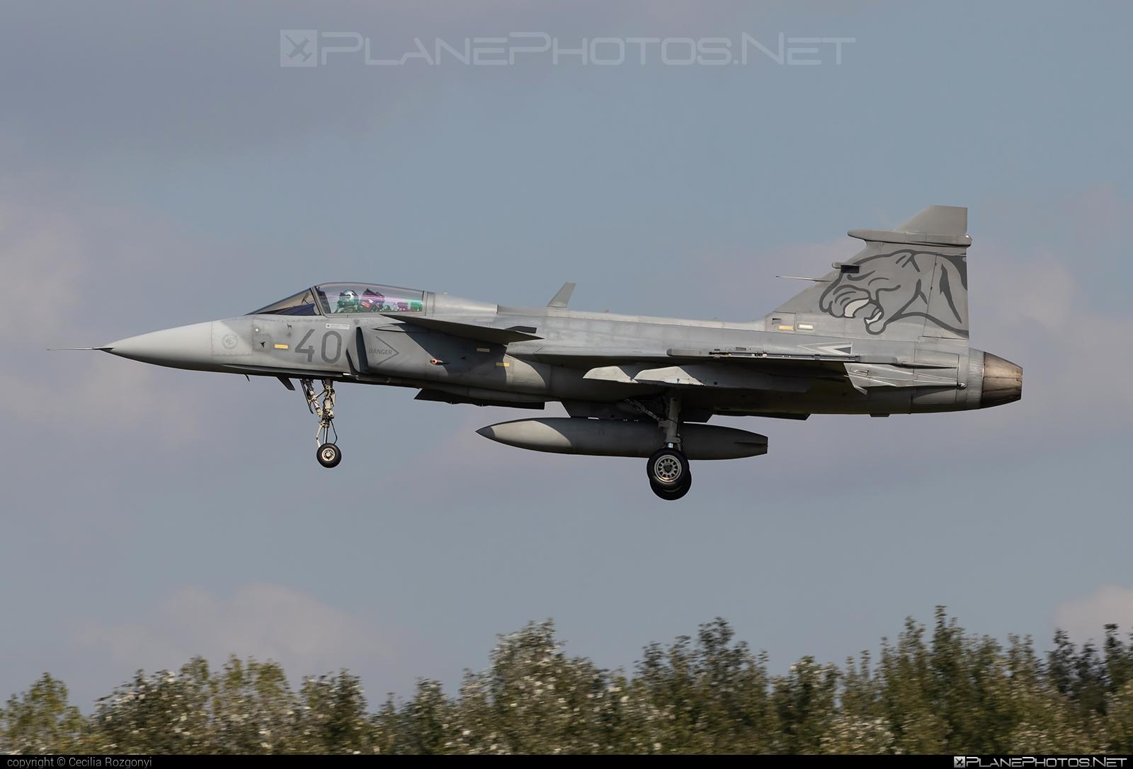 Saab JAS 39C Gripen - 40 operated by Magyar Légierő (Hungarian Air Force) #KecskemetAirBase #PumaSquadron #gripen #hungarianairforce #jas39 #jas39c #jas39gripen #magyarlegiero #saab