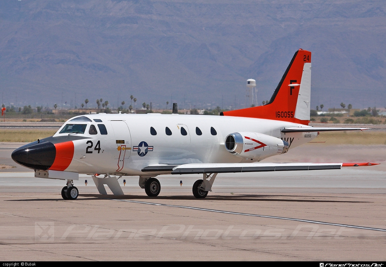 North American T-39G Sabreliner - 160055 operated by US Navy (USN) #northamerican