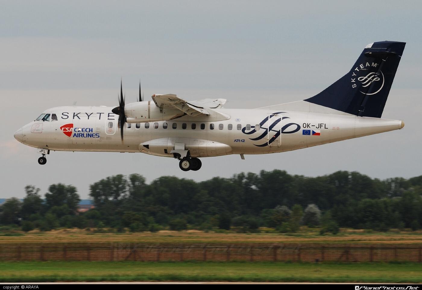 ATR 42-500 - OK-JFL operated by CSA Czech Airlines #atr #atr42 #atr42500 #csa #czechairlines #skyteam