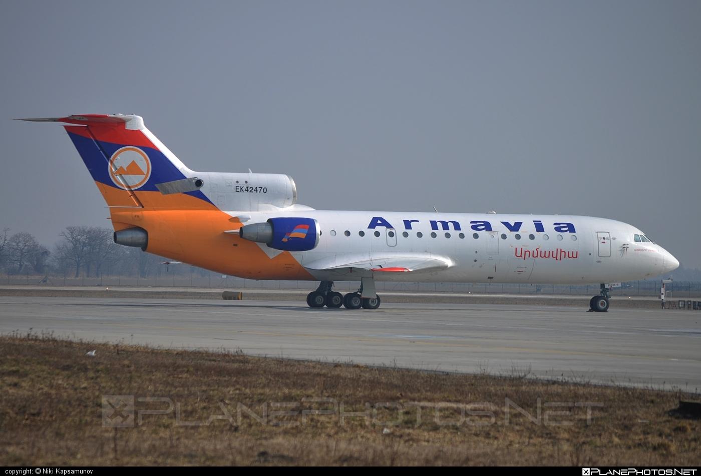 Yakovlev Yak-42D - EK42470 operated by Armavia #yak #yak42 #yak42d #yakovlev