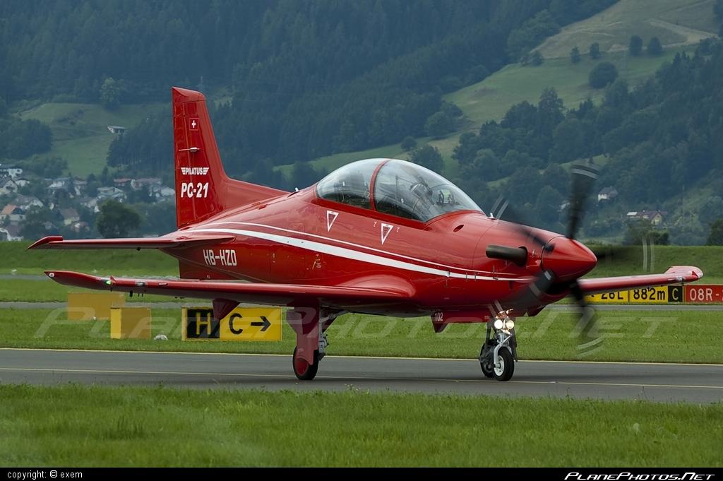 Pilatus PC-21 - HB-HZD operated by Pilatus Aircraft #airpower #airpower2009 #pilatus