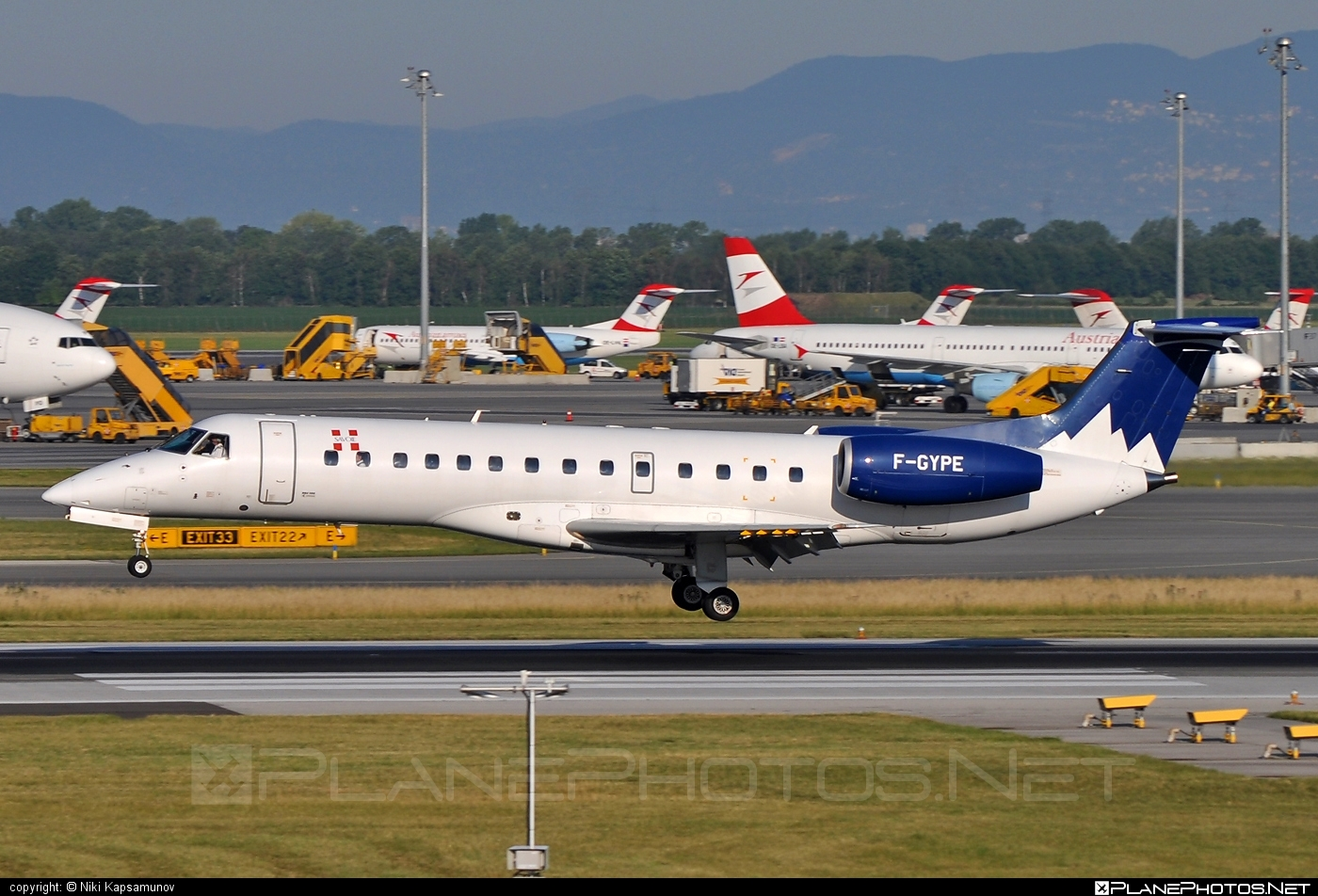 Embraer ERJ-135LR - F-GYPE operated by Pan Europeenne Air Service #embraer