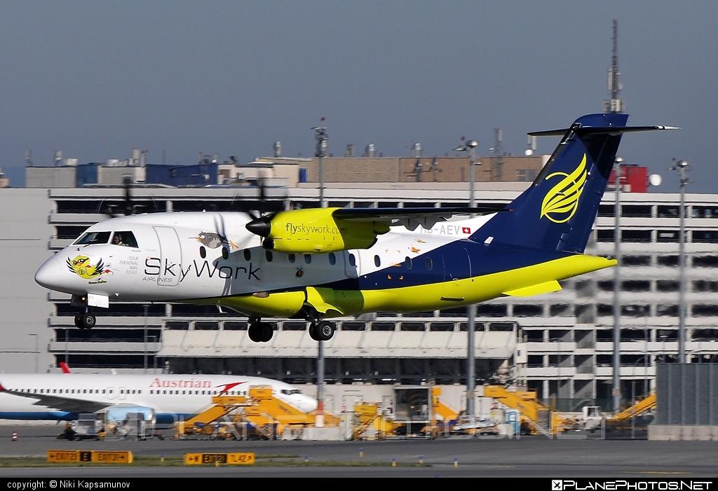 Dornier 328-110 - HB-AEV operated by SkyWork Airlines #dornier