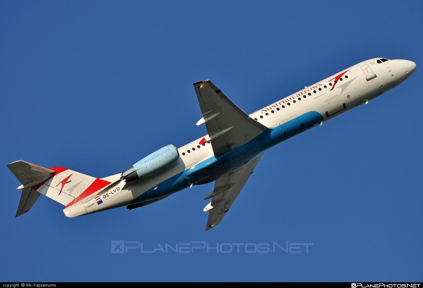 Fokker 100 - OE-LVD operated by Austrian arrows (Tyrolean Airways) #fokker