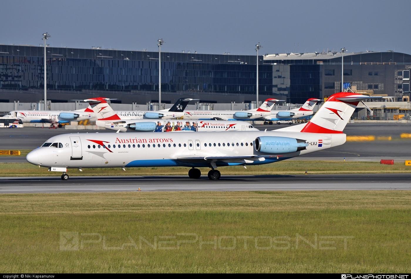 Fokker 100 - OE-LVJ operated by Austrian arrows (Tyrolean Airways) #fokker #fokker100