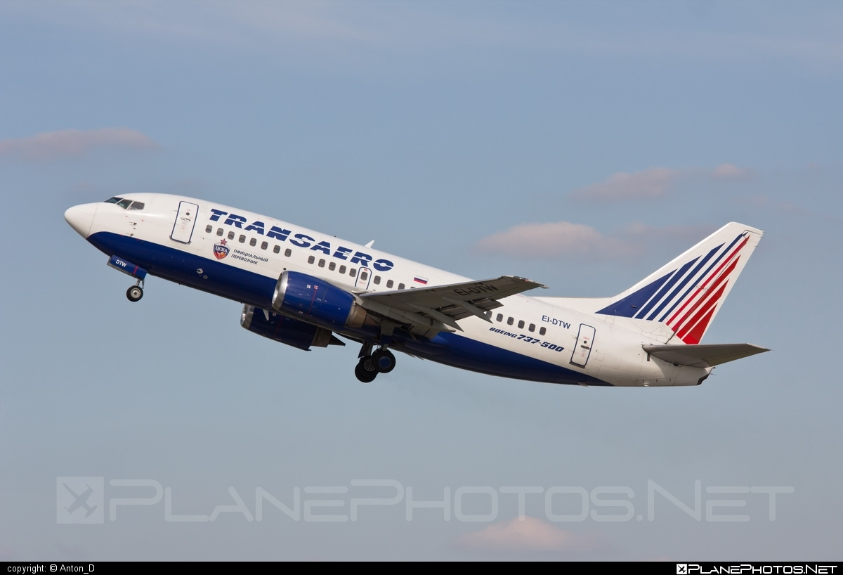 Boeing 737-500 - EI-DTW operated by Transaero Airlines #b737 #boeing #boeing737