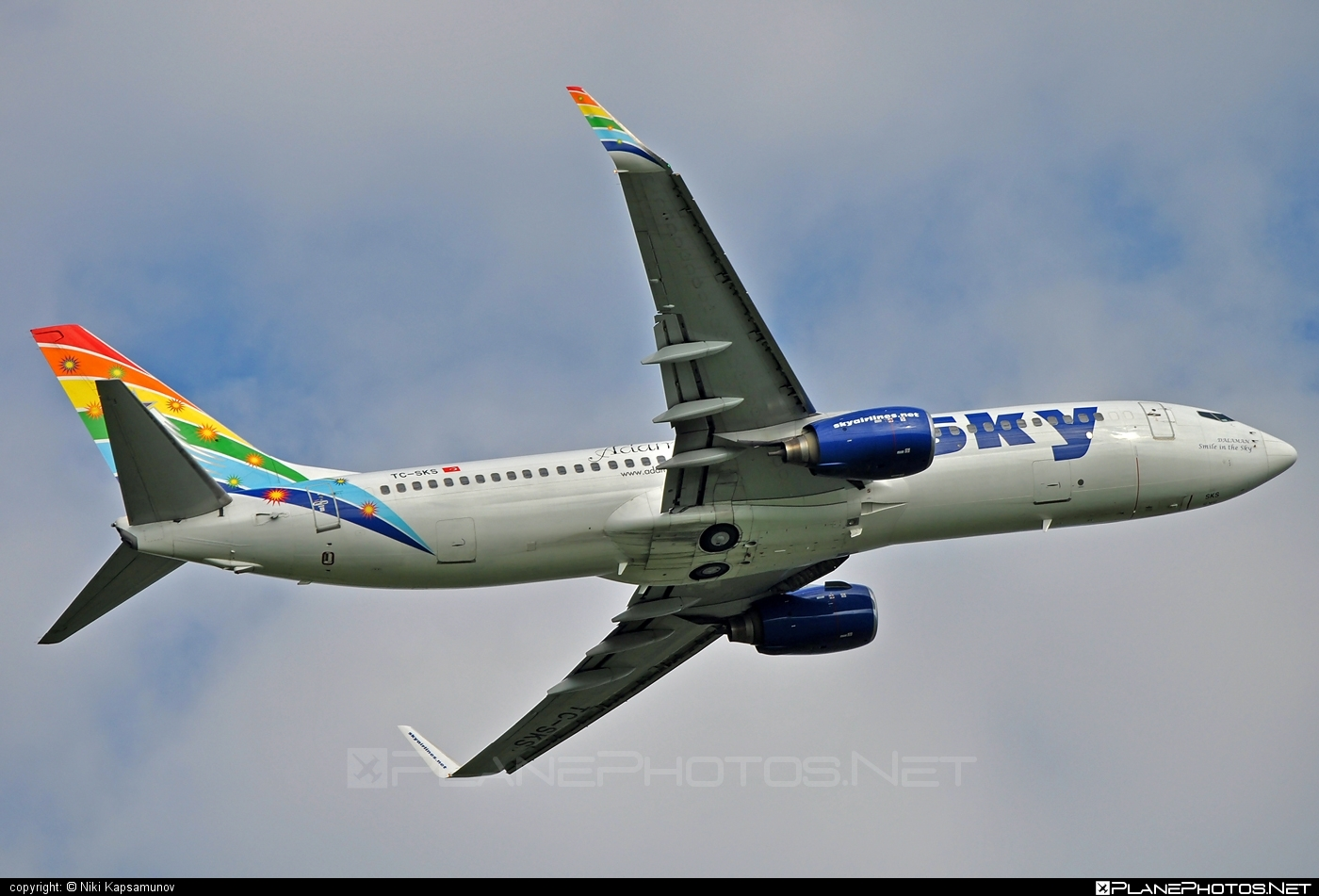 Boeing 737-800 - TC-SKS operated by Sky Airlines #b737 #b737nextgen #b737ng #boeing #boeing737