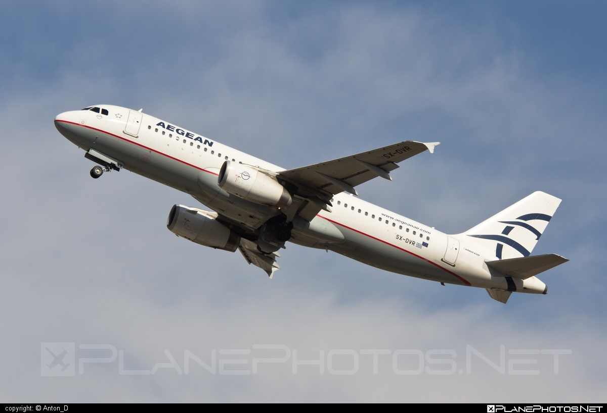Airbus A320-232 - SX-DVR operated by Aegean Airlines #a320 #a320family #airbus #airbus320