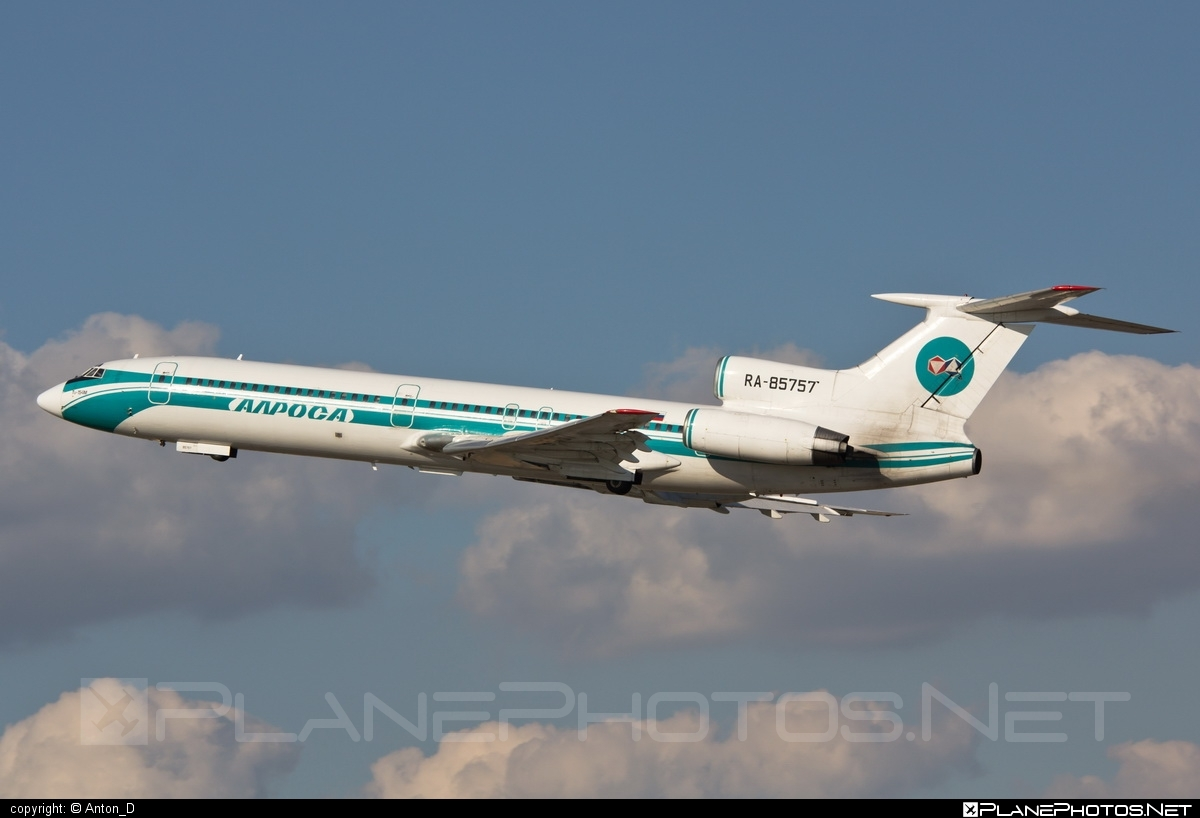 Tupolev Tu-154M - RA-85757 operated by Alrosa Mirny Air Enterprise #tu154 #tu154m #tupolev