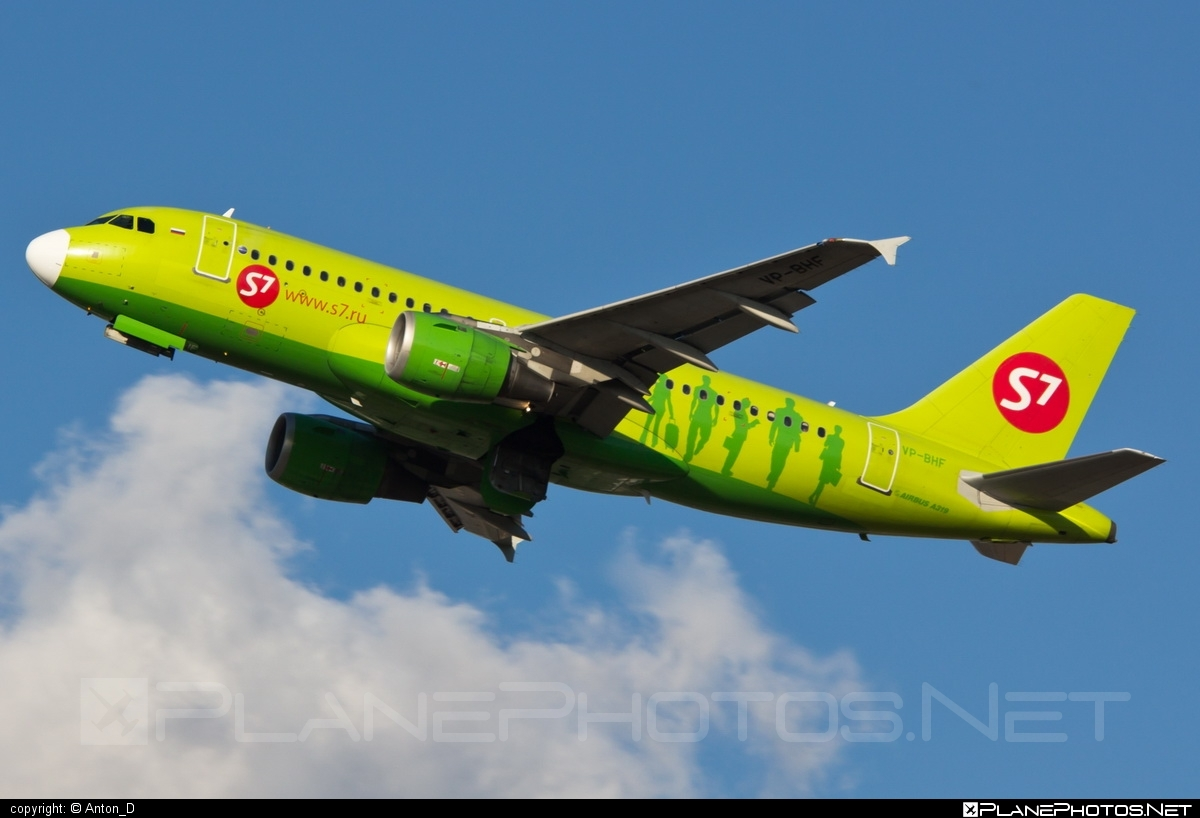 Airbus A319-114 - VP-BHF operated by S7 Airlines #a319 #a320family #airbus #airbus319