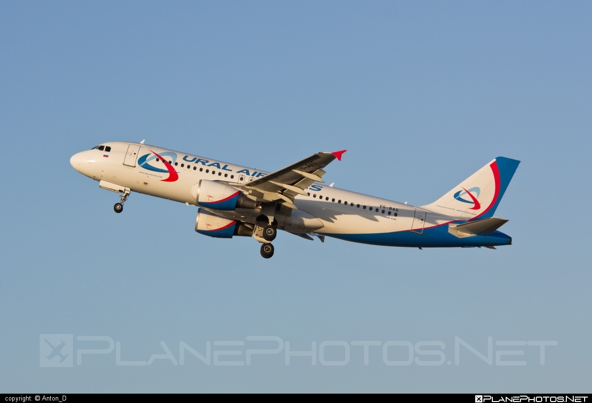 Airbus A320-214 - VQ-BAG operated by Ural Airlines #a320 #a320family #airbus #airbus320