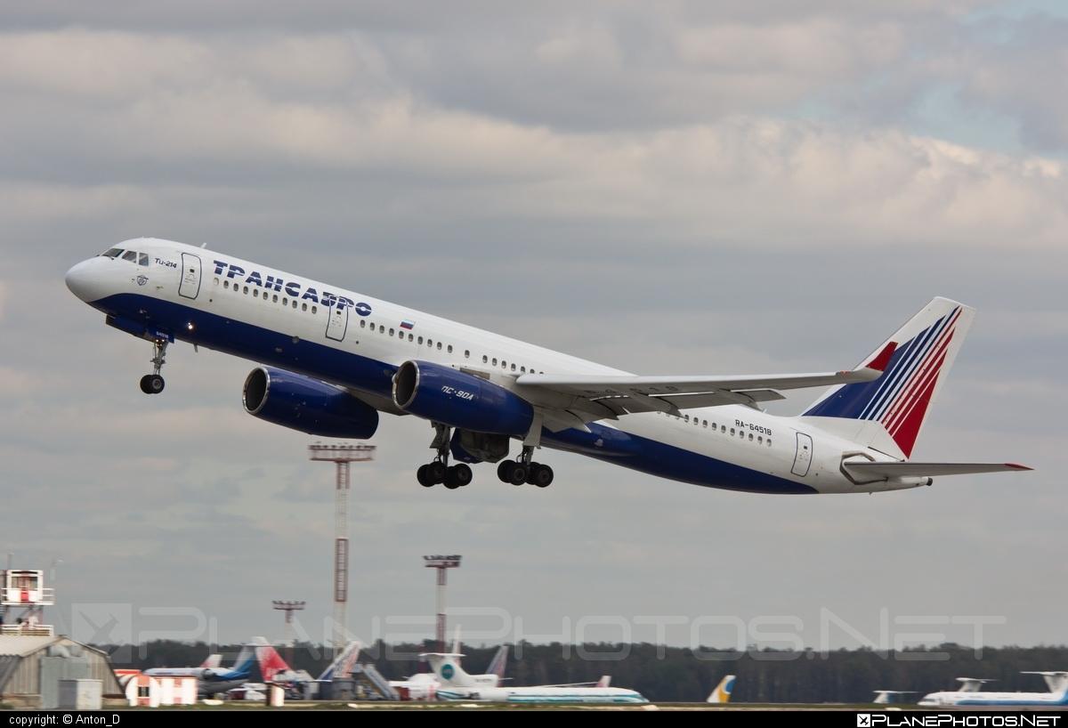 Tupolev Tu-214 - RA-64518 operated by Transaero Airlines #tu214 #tupolev