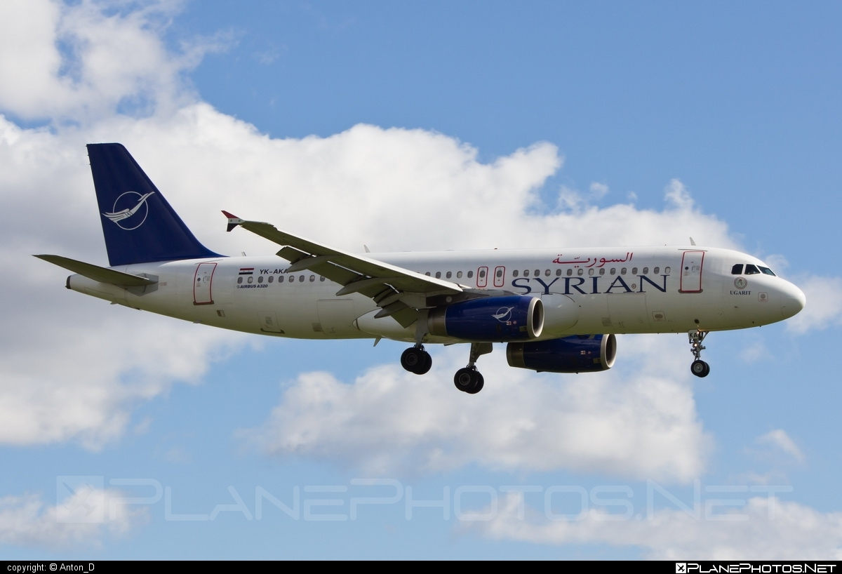 Airbus A320-232 - YK-AKA operated by SyrianAir - Syrian Arab Airline #a320 #a320family #airbus #airbus320