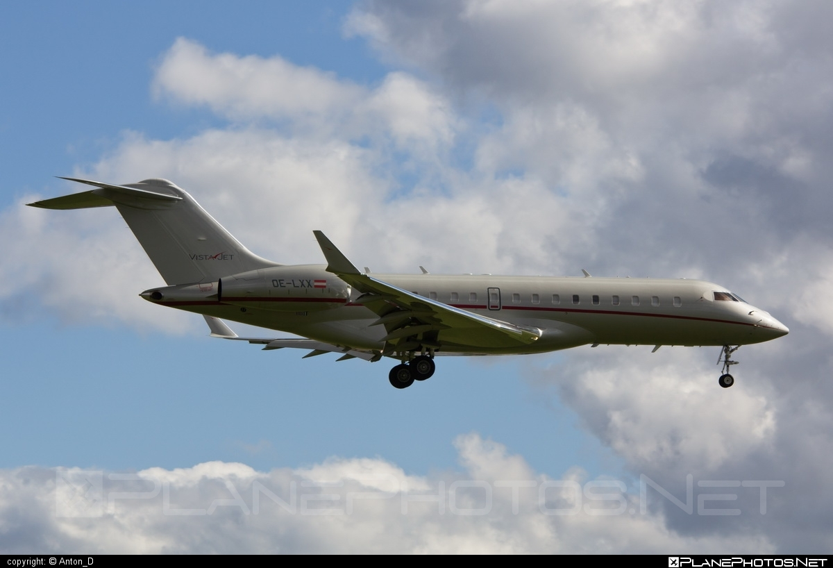 Bombardier Global 6000 (BD-700-1A10) - OE-LXX operated by VistaJet #bd7001a10 #bombardier #bombardierglobal6000 #global6000 #vistajet